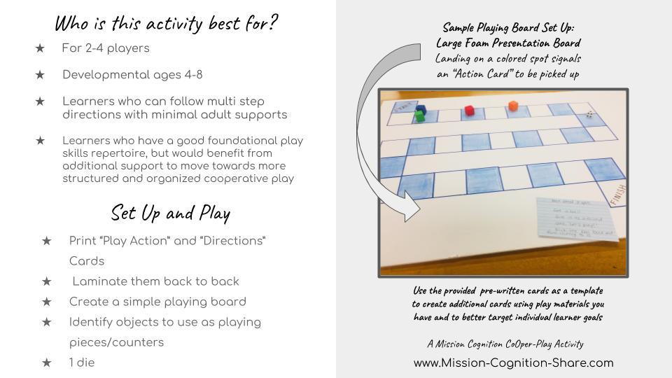 Play Action Board Game Mission Cognition