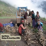 Hand woolen making items distribution of Nepal Mission