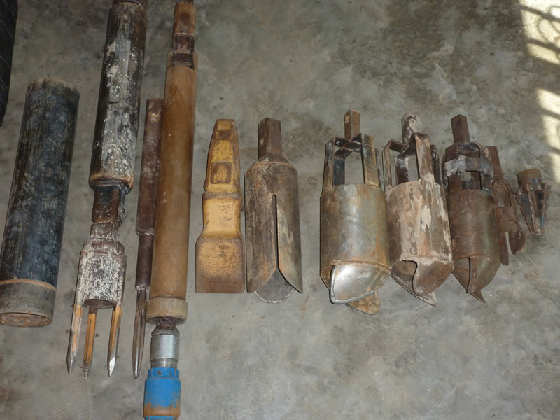 Drilling Tools used in the excavation process for digging water wells.