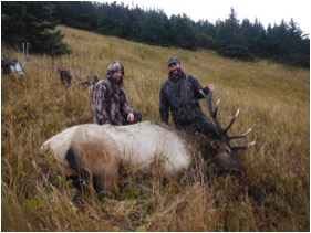 Doug and Ryan with Elk