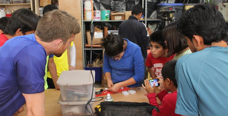 Open house in our woodworking wand engineering workshop