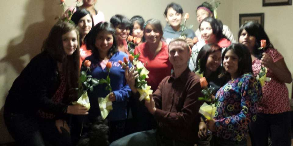 Valentines Day with girls from the orphanage