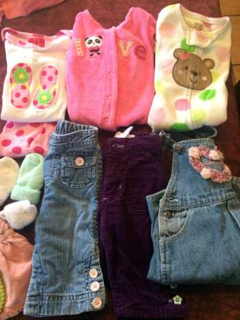 Baby clothes for the daughter of one of our former students