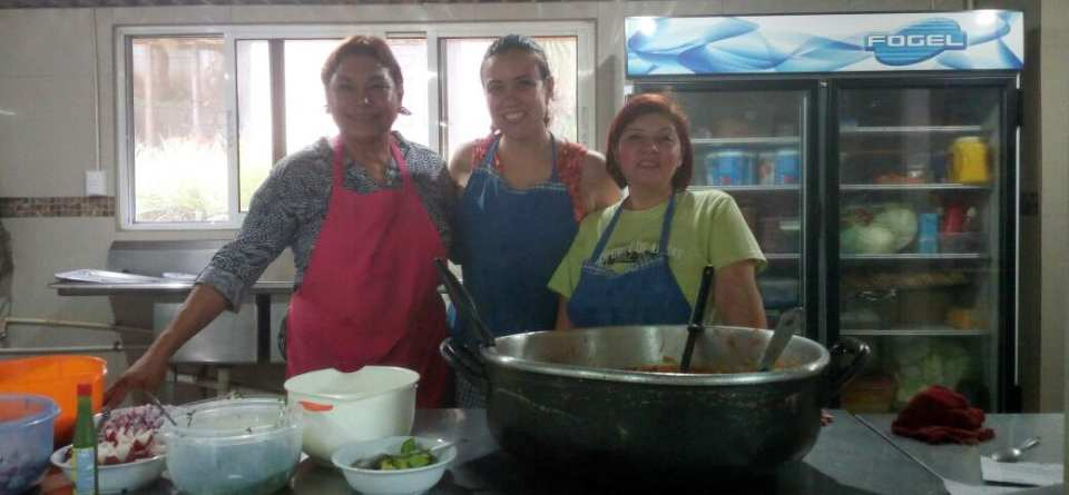 Sharie, with the wonderful volunteers from our Casa de Libertad, our local church.