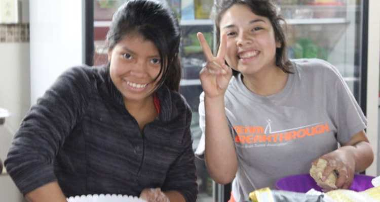 Culinary Arts classes for students at the orphanage Fundaninos