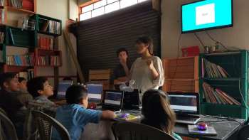 Mely Corona teaching web design to our students