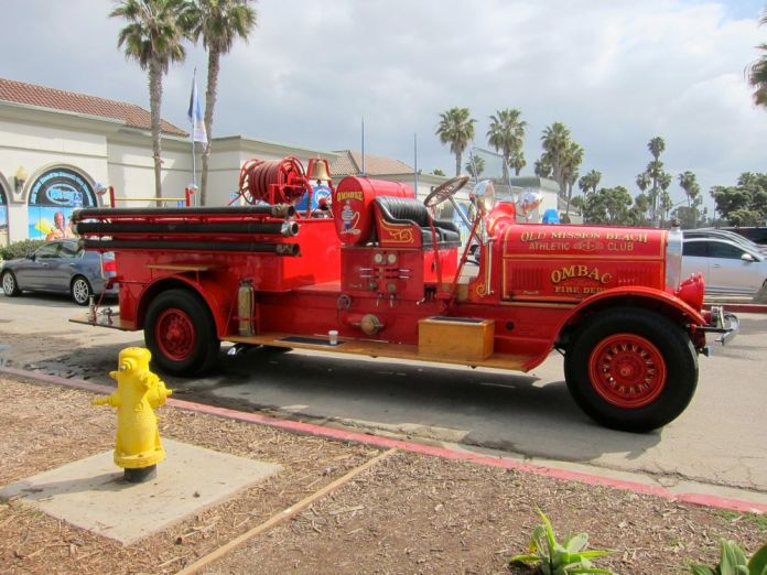 Old Mission Beach Athletic Club OMBAC Fire Truck