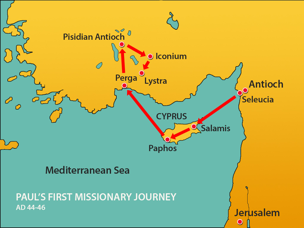 Paul S 1st Missionary Journey Lystra