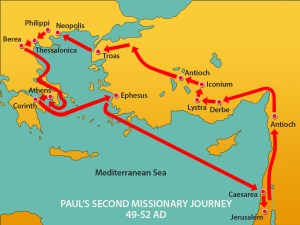 Paul's 2nd Missionary Journey