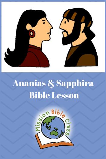 Ananias and Sapphira Pin