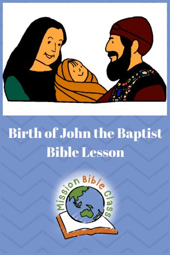 Birth of John the Baptist Pin