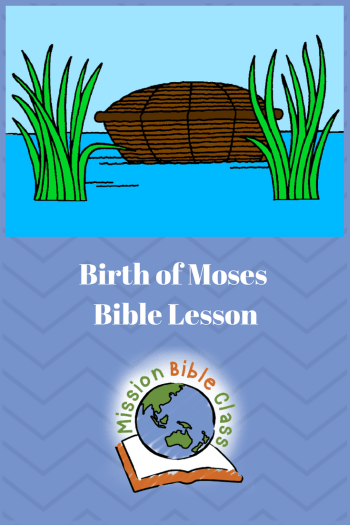 Birth of Moses Pin