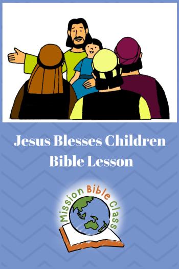 Jesus Blesses the Children Pin