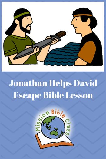 Jonathan Helps David Escape Pin