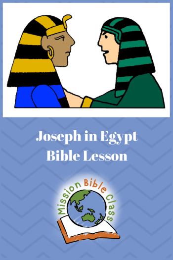 Joseph in Egypt Pin
