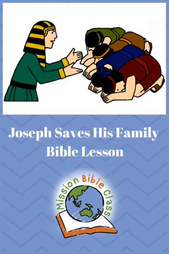 Joseph Saves His Family Pin