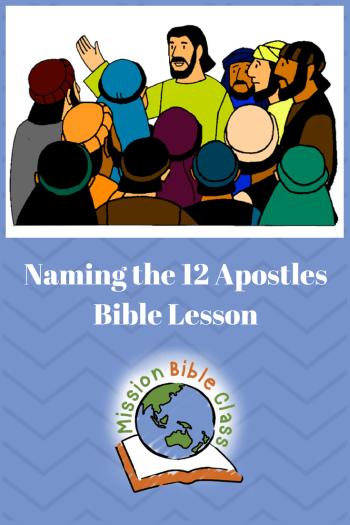 Naming the 12 Apostles Pin