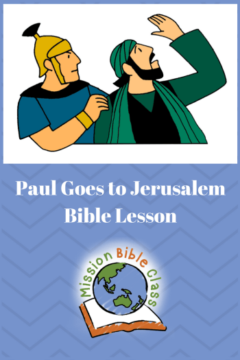 Paul Goes to Jerusalem Pin