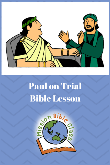 Paul on Trial Pin