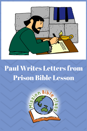 Paul Writes Letters from Prison Pin