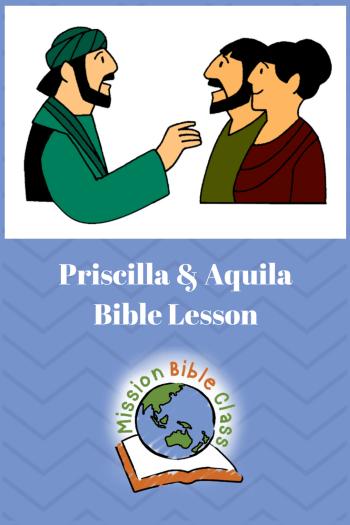 Priscilla and Aquila Pin