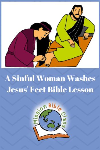 Library of vector royalty free stock of mary washing jesus feet ... | 525x350