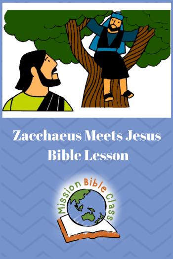Zacchaeus Meets Jesus Pin