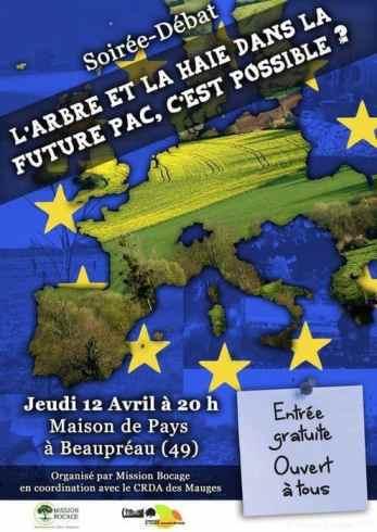 Affiche soirée débat arbre haie future pac