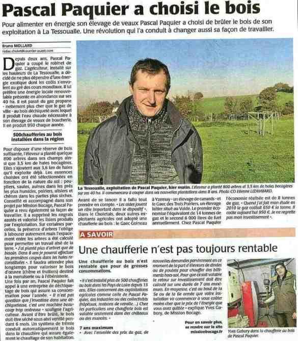 Ouest France. 10 Décembre 2013.