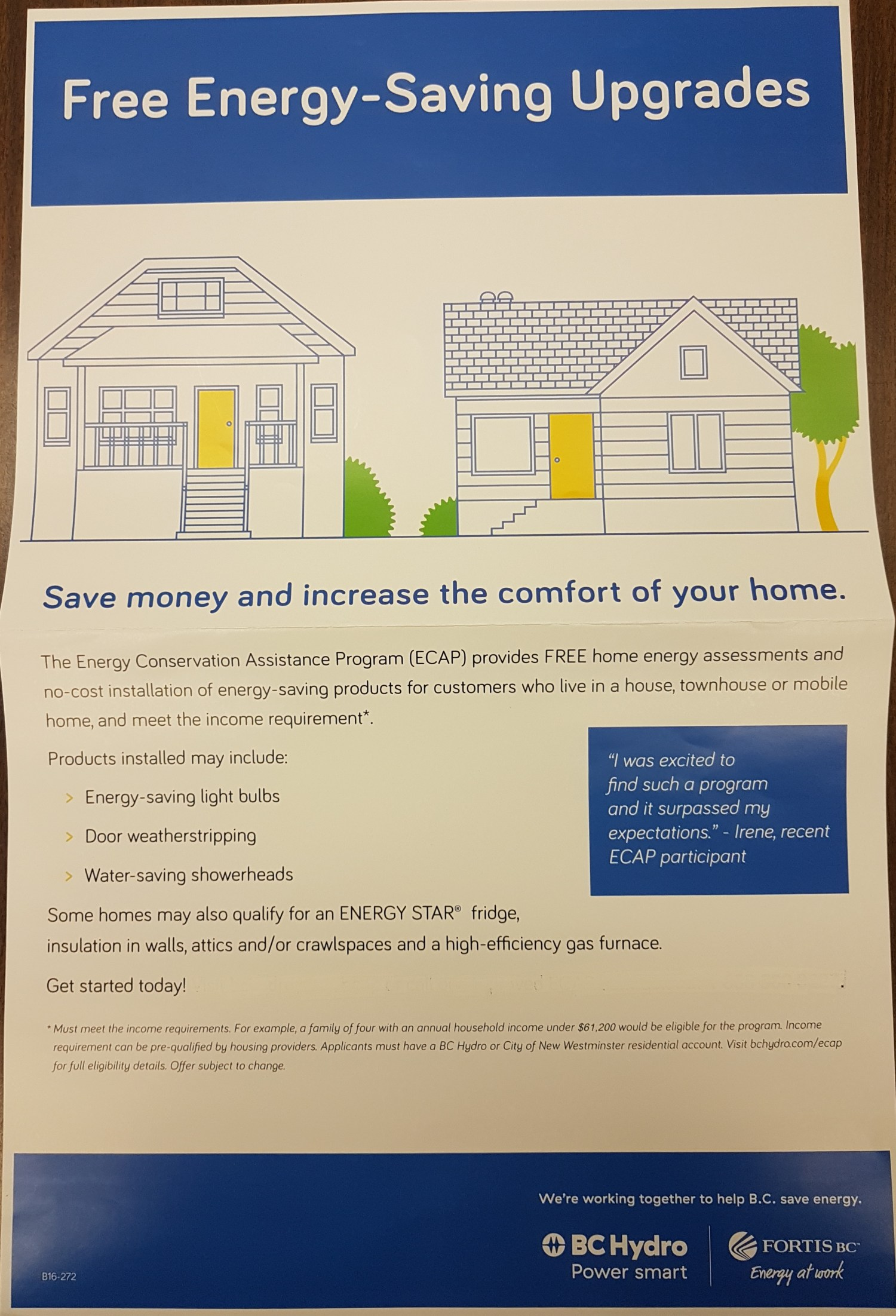 Call us at MCSS to assist your home energy upgrade - Mission