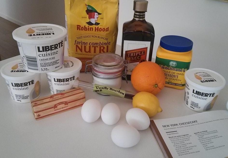 ingrédients MTL cheese cake