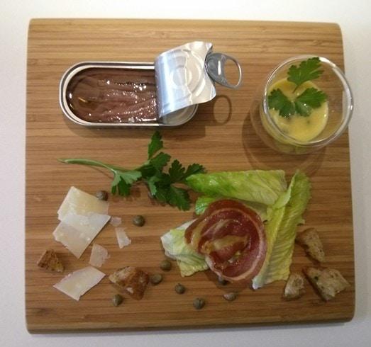 Salade romaine déconstruite