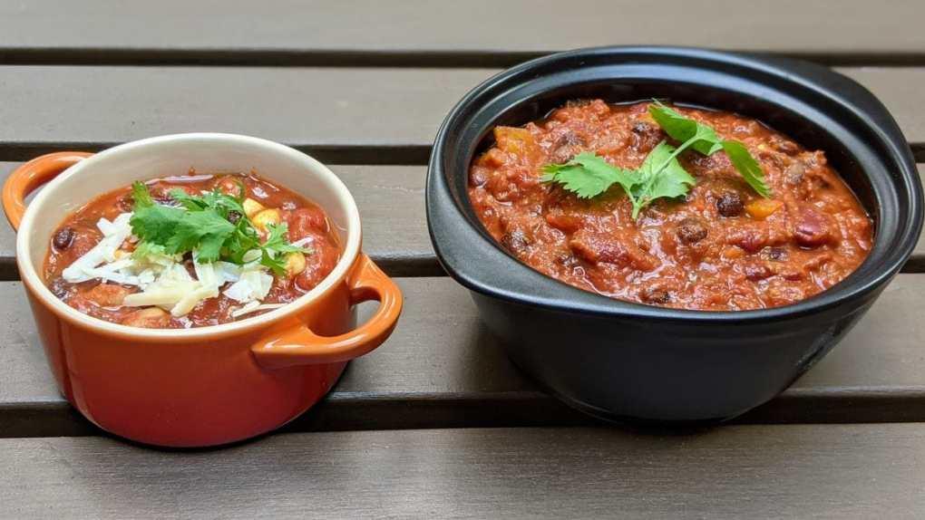 2 sortes de chilis pour végétarien et omnivore