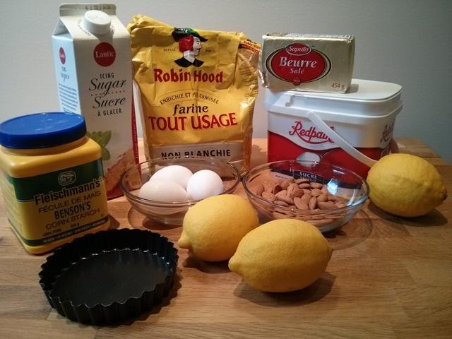 ingrédients tarte citron