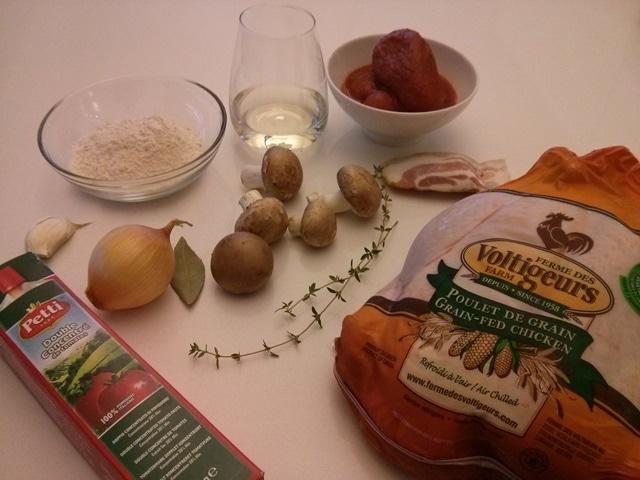 ingrédients poulet chasseur