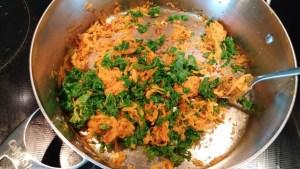 patate douce et kale