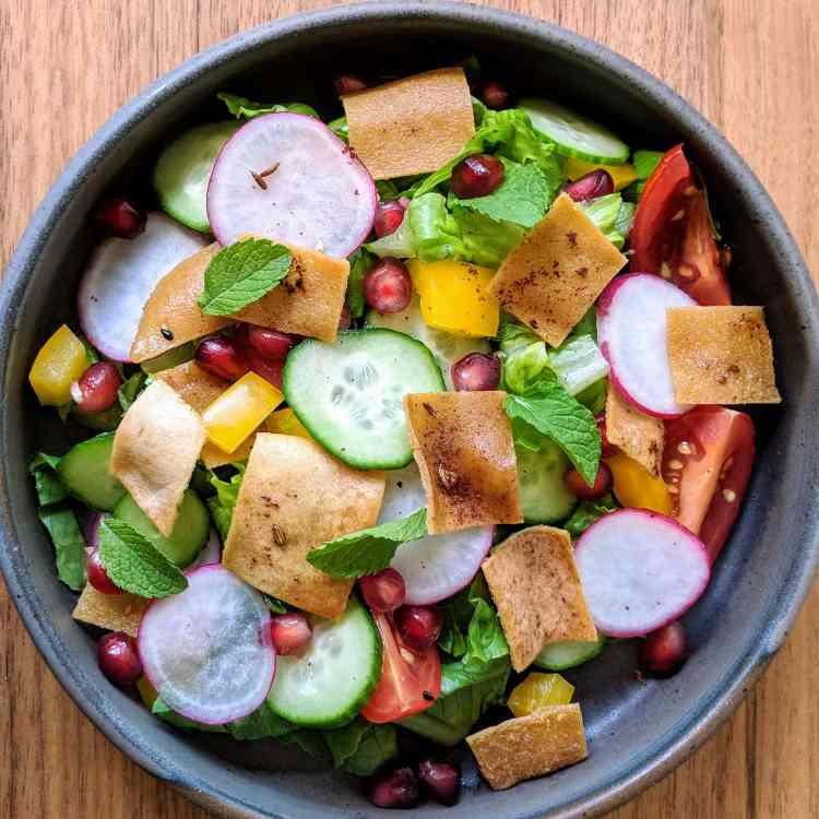 Salade Fattouche version Mission Cuisine Urbaine