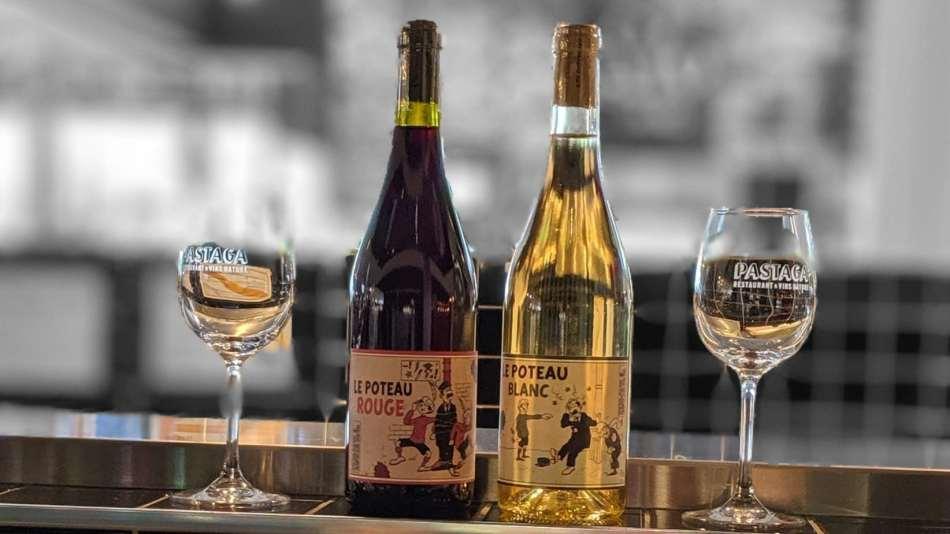 Du vin nature disponible pour accompagner un plat au Pastaga Boutique