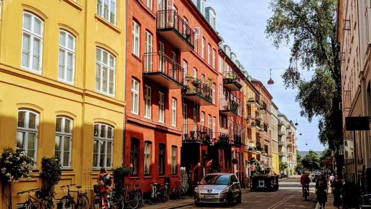 Une rue paisible pour une escapade de trois jours à Copenhague