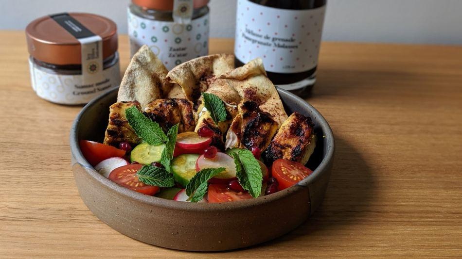 Les ingrédients de la cuisine du moyent-orient, le zataar et le  sumac
