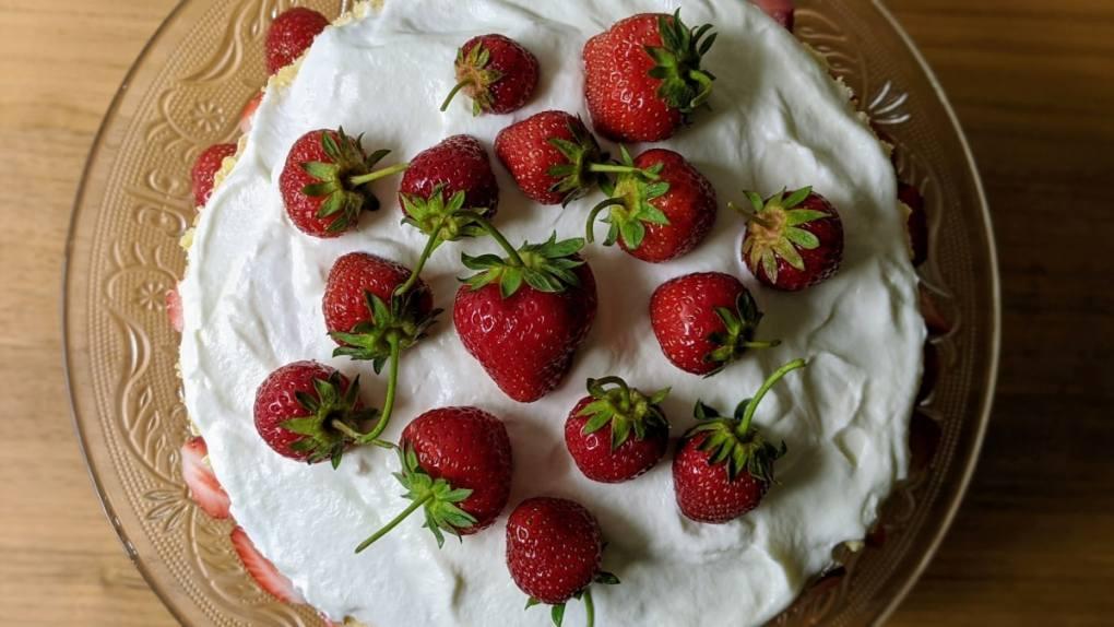Shortcake aux fraises Mission Cuisine Urbaine Vue haut