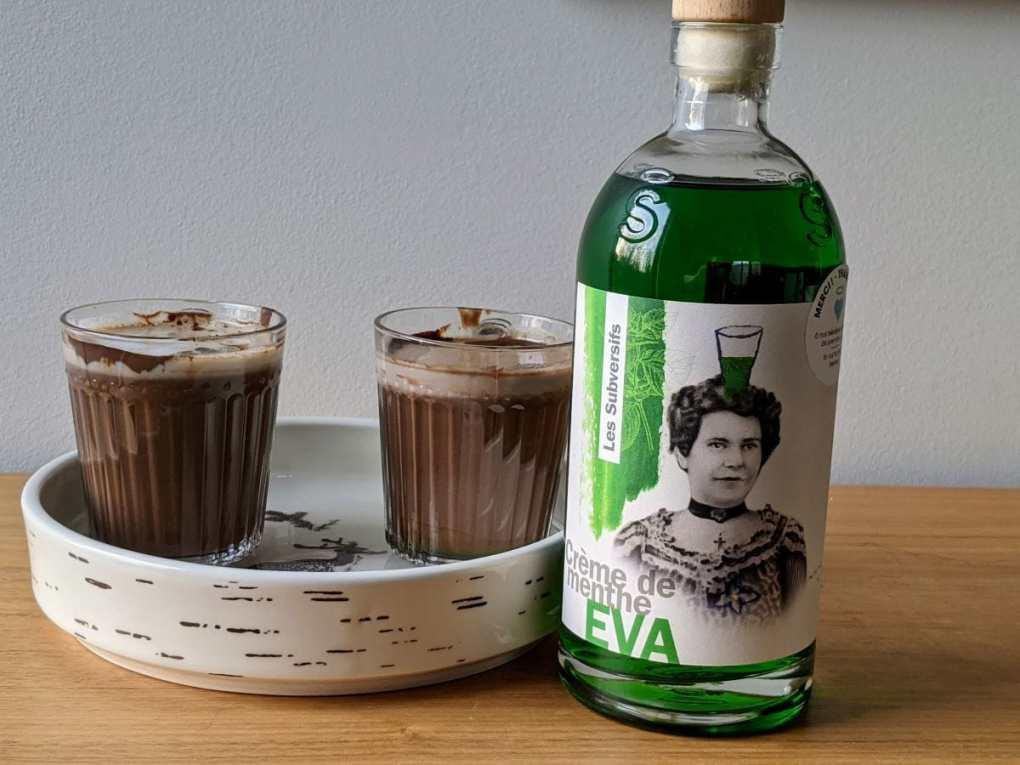 Chocolat chaud Patrice Demers et Eva Crème de menthe