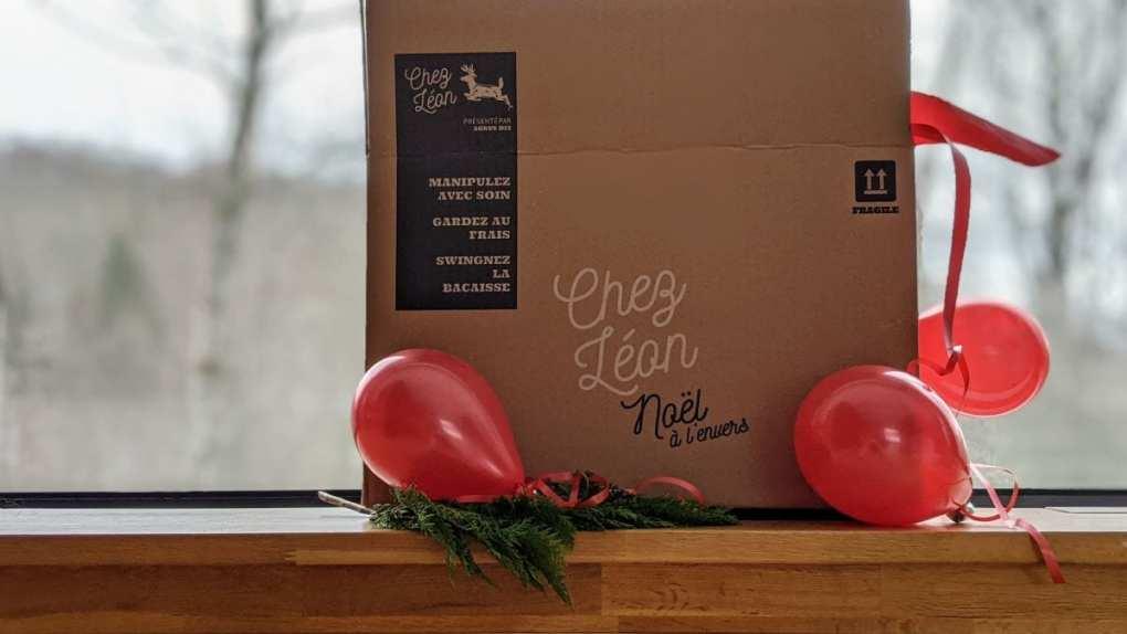 Boîte repas Chez Léon Noël à l'envers