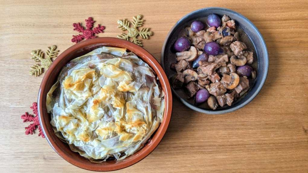 Dindon à la bourguignonne avec ou sans pâte phyllo