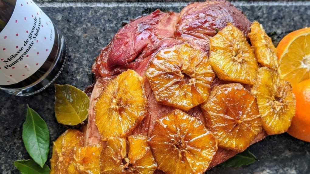 jambon mélasse de grenade et orange