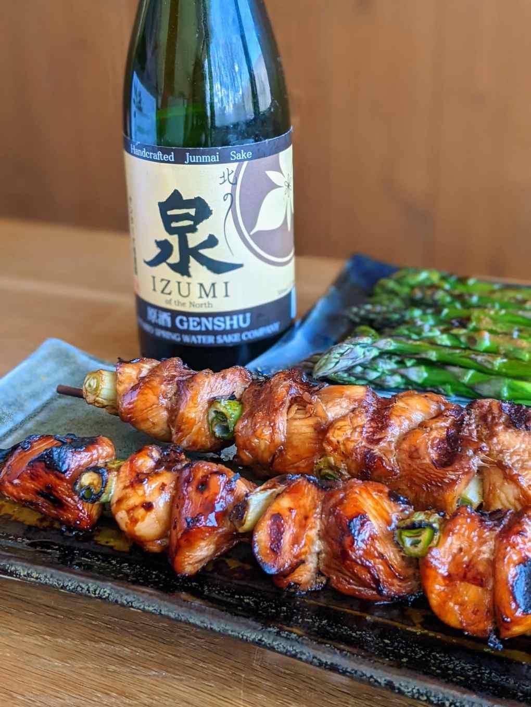 sake canadien yakitori brochette dindon japonaise