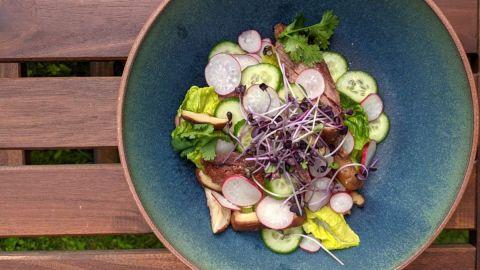 salade bavette de boeuf marinée thaïlandaise