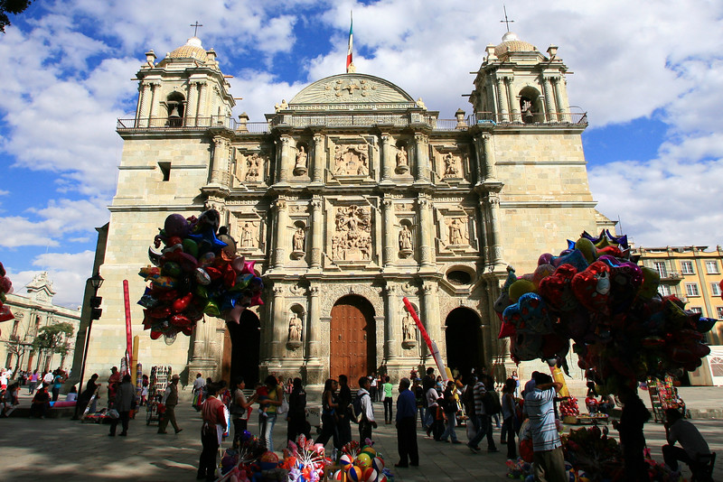 Oaxaca Cathedrals, Oaxaca Zocalo, Dave Millers Mexico