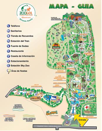 Guadalajara Zoo Map, Guadalajara Zoo, Dave Millers Mexico