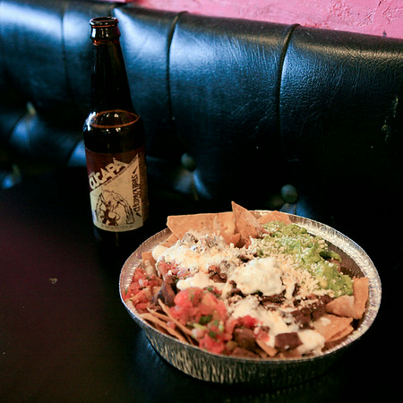 Champion Nachos at Lucha Libre - From Dave Miller's Mexico